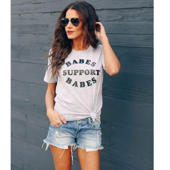 Vici Tops - NEW! Babes Support Babes Tee
